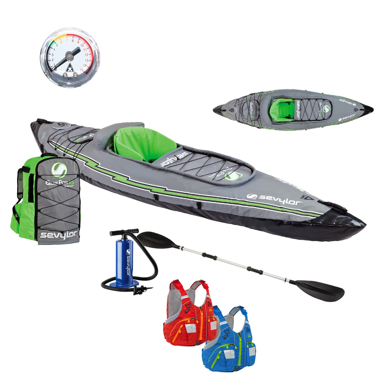 Equipment for inflatable kayaks